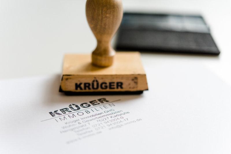 Stempel der Krüger Immobilien OHG